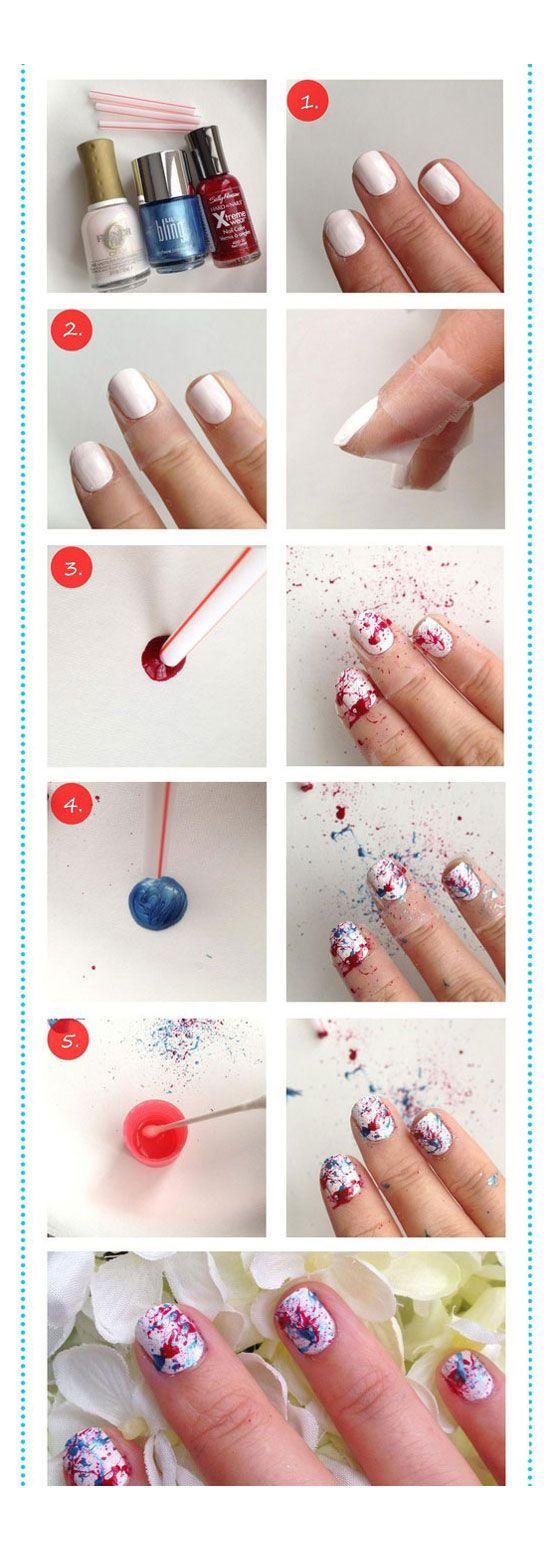 Beginner Nail Art On Pinterest Easy Nail Designs Short Nails Art And Really Easy Nails