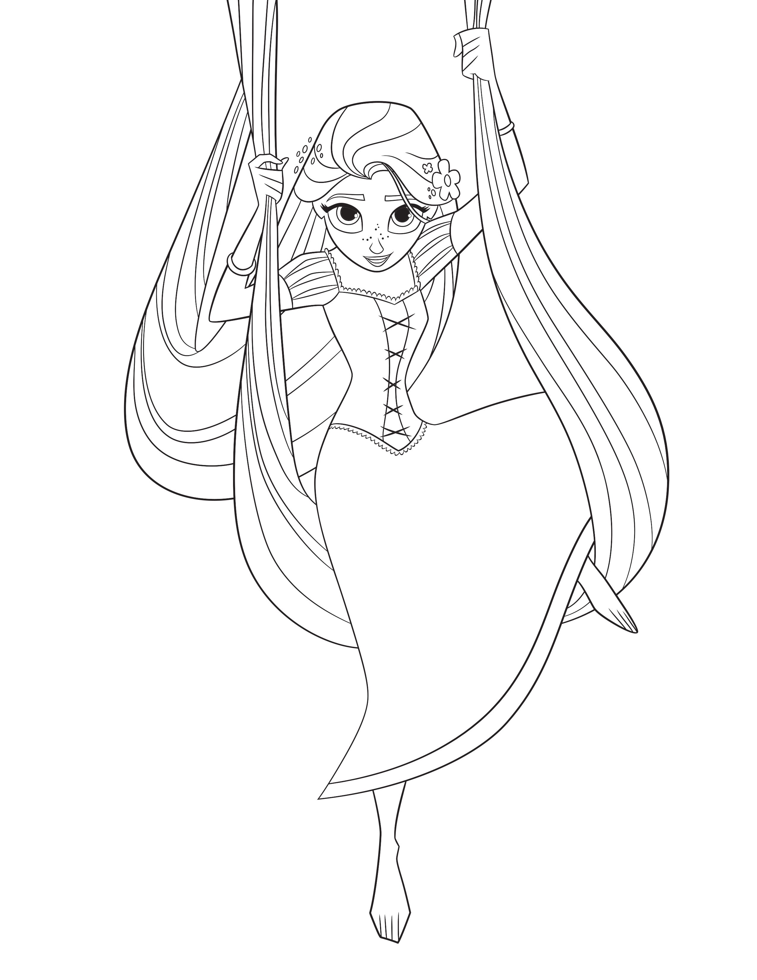 Tangled The Series Rapunzel coloring page Disney