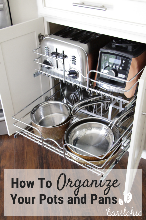 how to organize pots and pans basilchic kitchen organization organization kitchen on kitchen organization pots and pans id=84628