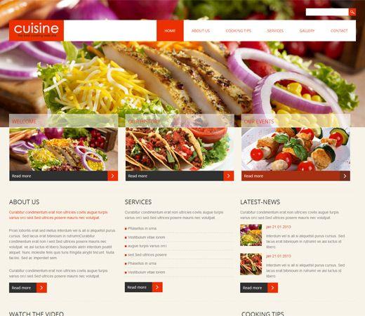Cuisine Free #Responsive #HTML5 #CSS3 #Mobileweb Template Free - free food menu template