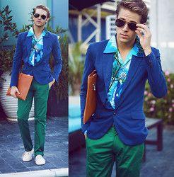 Zara Blazer, Zara Emerald Trousers, Jogunshop Mens Clutch