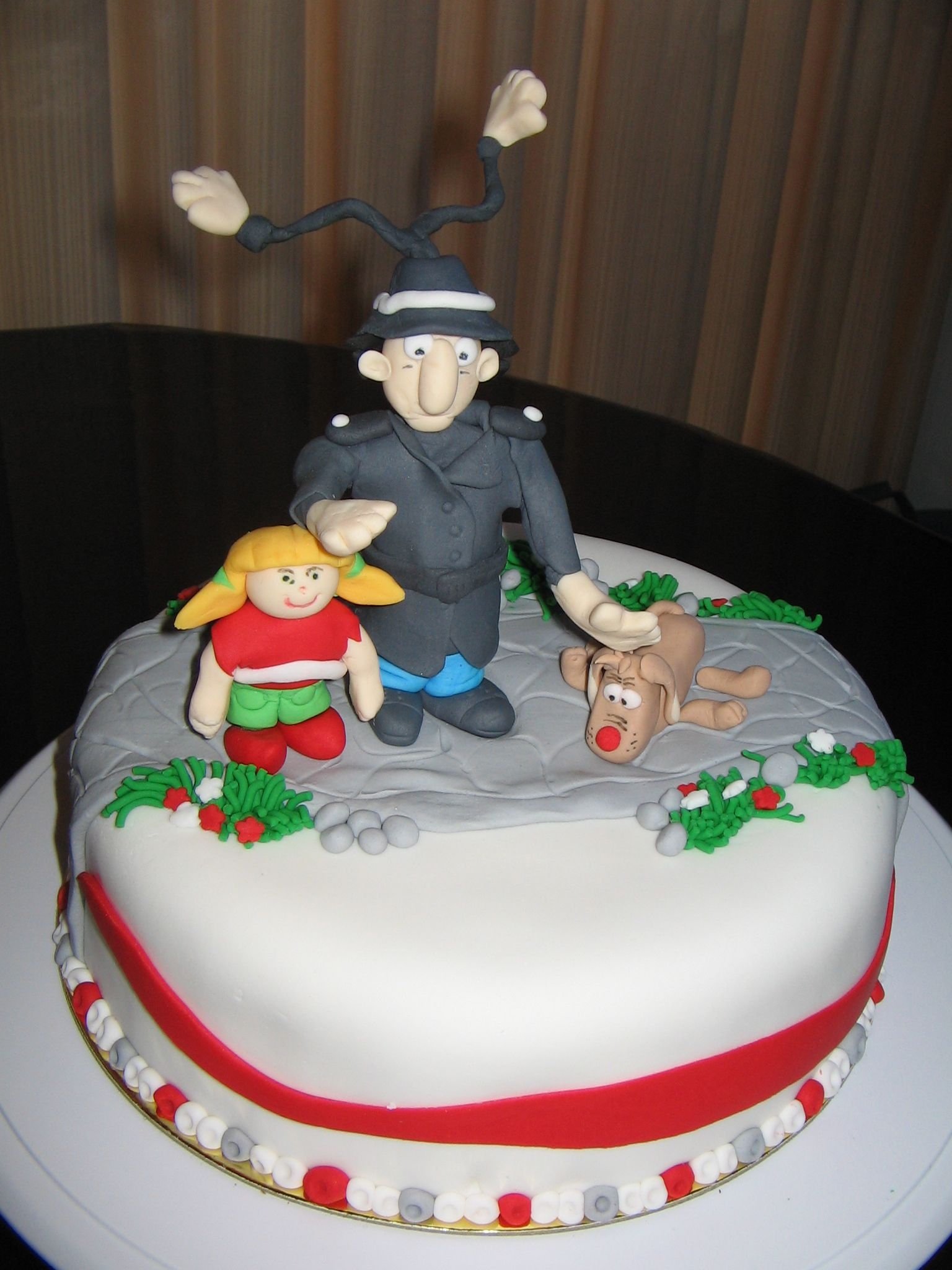 Inspector Gadget gluten free red velvet chocolate cake covered in