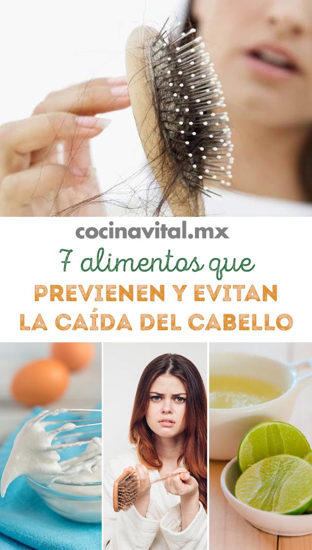 7 Alimentos Que Previenen Y Evitan La Caída Del Cabello Caída Del Cabello Remedios Para La Caída Del Cabello Vitaminas Para El Cabello