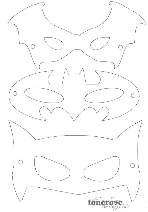 Free printable superhero masks! \u003d) Gratis print superhelt-masker