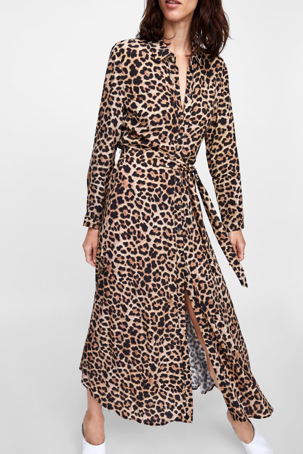 db1294907c Image 2 of LONG LEOPARD PRINT DRESS from Zara
