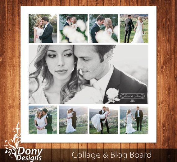 buy 1 get 1 free wedding blog board collage template sized 20x20