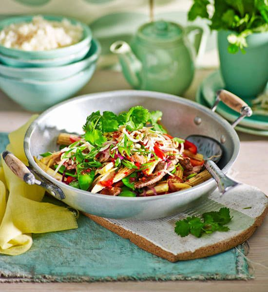 Beef and baby corn stir-fry recipe - Better Homes and Gardens ...