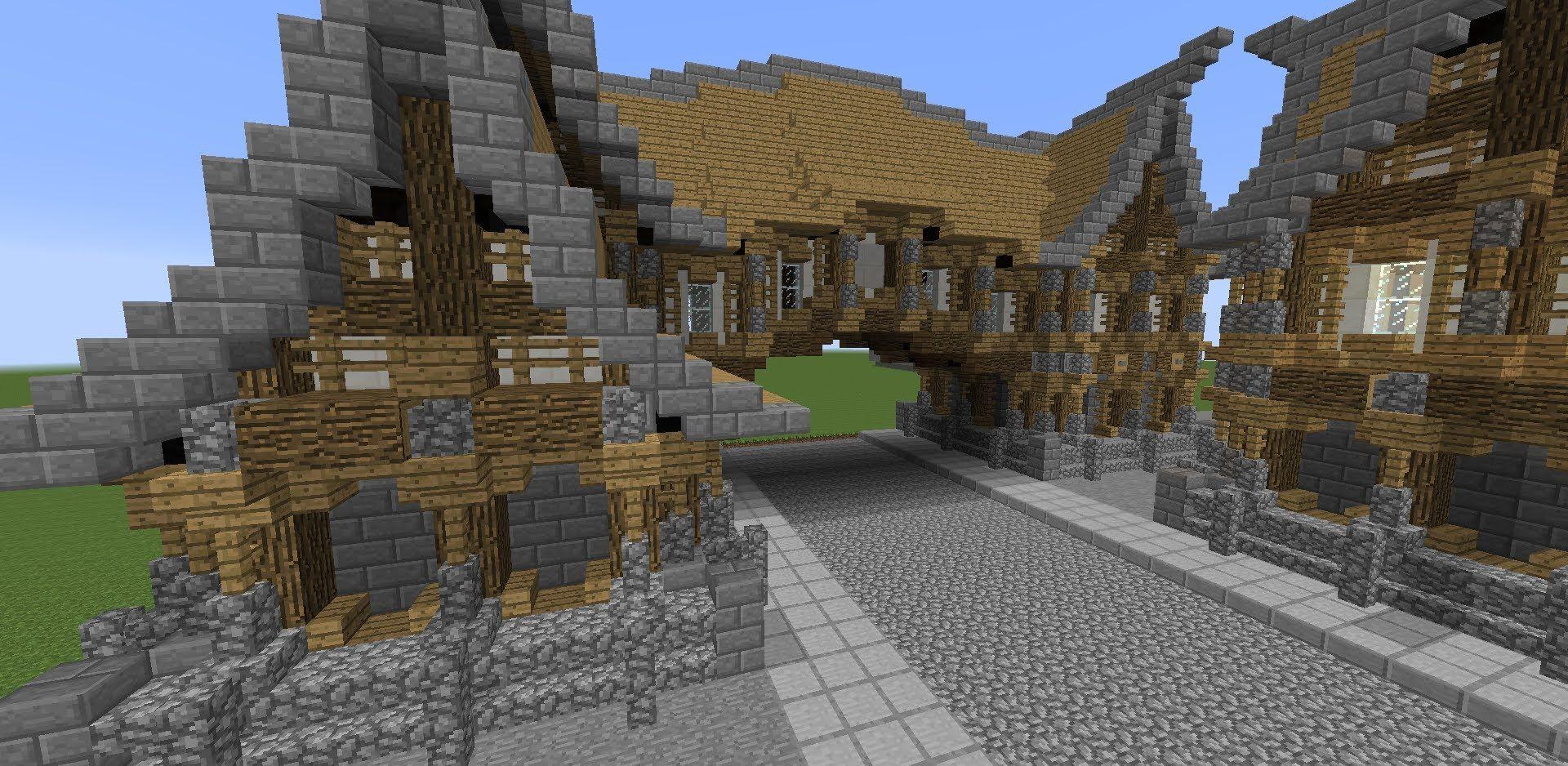 Minecraft Tutorial Medieval Hanging Street Building How To Build A Med Minecraft Medieval Minecraft Tutorial Minecraft Blueprints