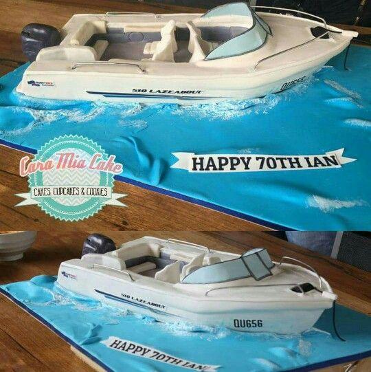 Speed Boat Cake Boat Cake Happy 70 Birthday Boat Theme