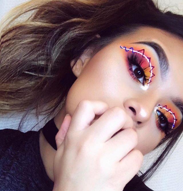 stonexoxstone youtubeigpintumblr eye makeup colorful