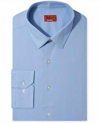 Alfani NEW Sky Blue Mens Size 16 1/2  Slim-Fit Stretch Dress Shirt $55 #009 #fashion #clothing #shoes #accessories #men #mensclothing (ebay link)
