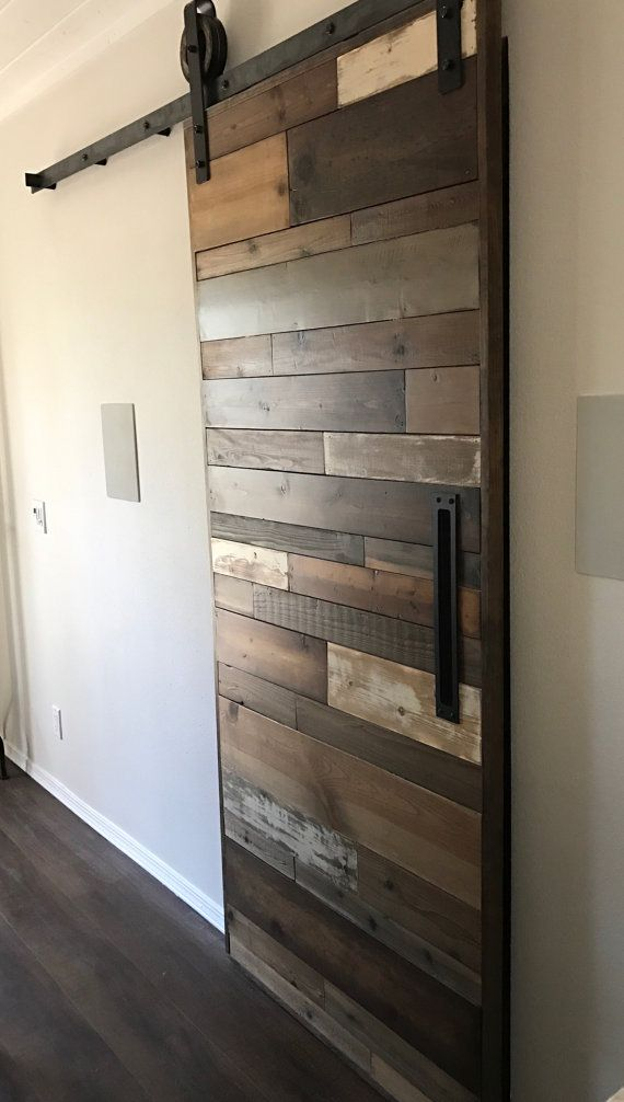 custom sliding barn door porte pinterest portes. Black Bedroom Furniture Sets. Home Design Ideas