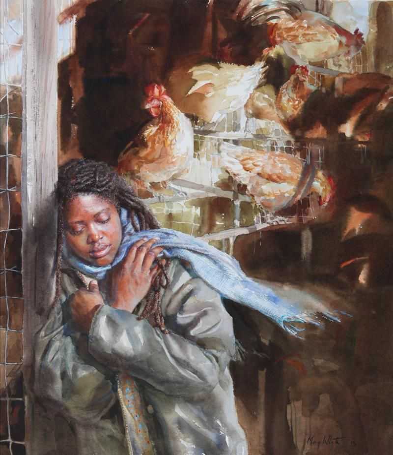 Refuge By Mary Whyte Art Watercolor Art Watercolor border=