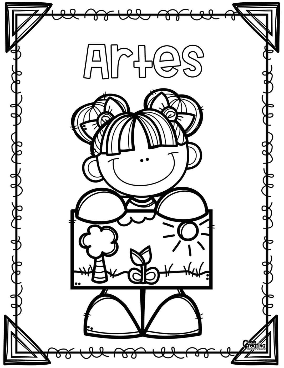 Pin De Gabi Pruna En Dibujos Caratulas Para Cuadernos Escolares Libros Para Colorear Portadas De Matematicas