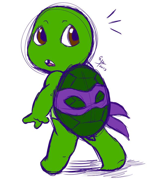 6b7fe6b833b Baby Donnie by licra on deviantART Baby Ninja Turtle, Teenage Ninja Turtles,  Ninja Turtles