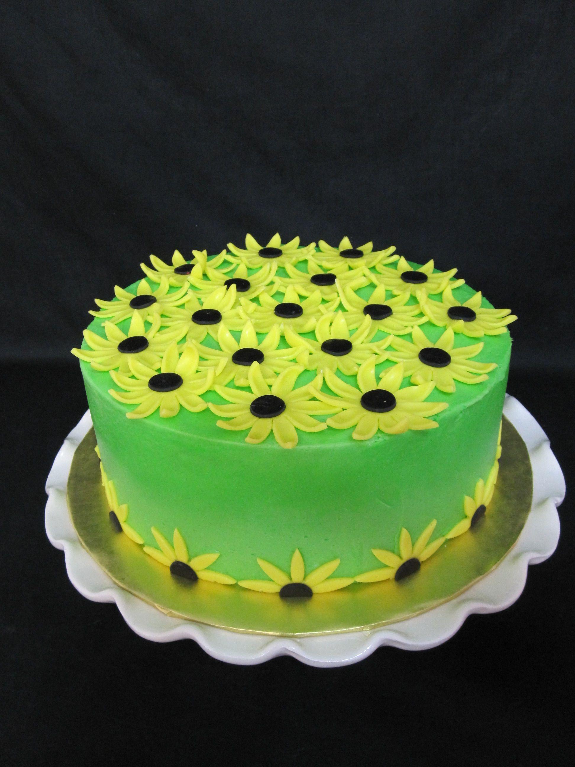 Sunflower Birthday Cake Sunflower birthday cakes Birthday cakes