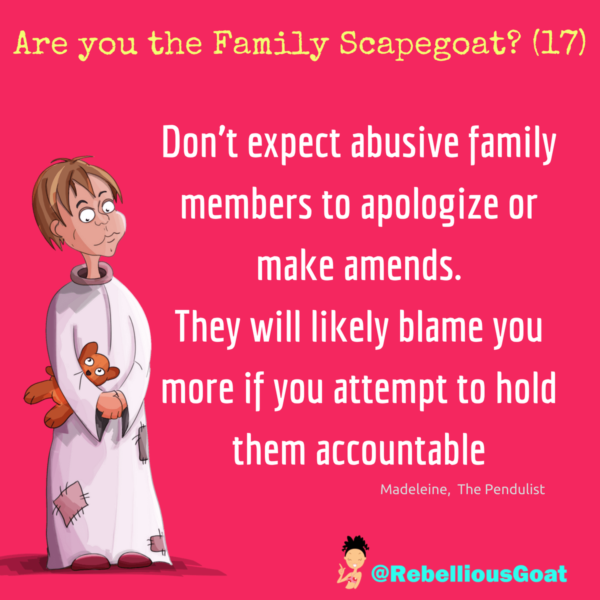 Quote 254 - family scapegoat 17 | Therapy | Family quotes, Toxic