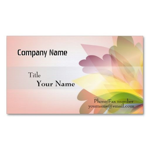 COLORFUL FLOWER Business Card Templates