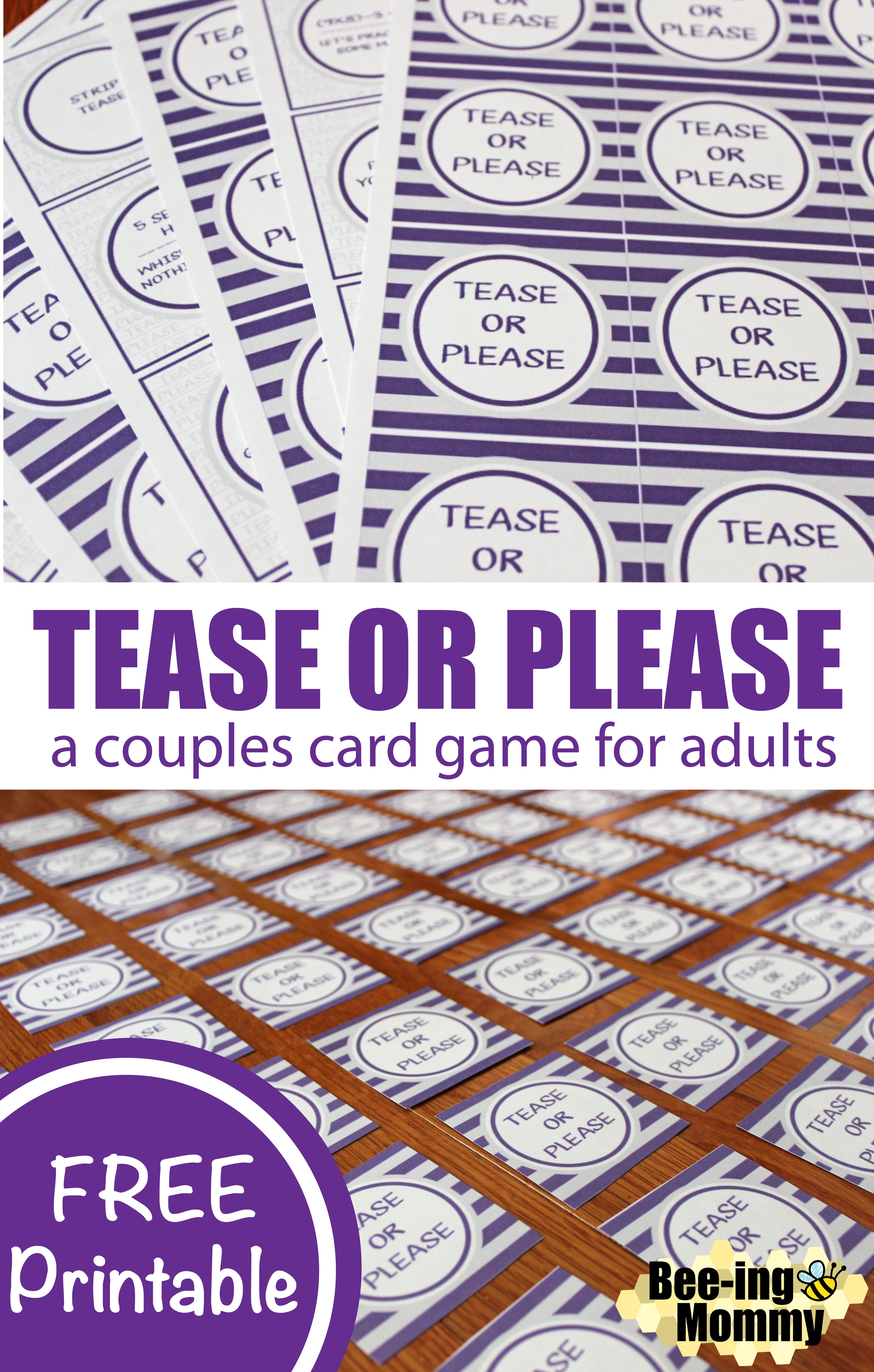 Tease or Please a Couples Card Game for Adults | Couple ...