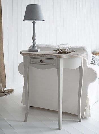 Bridgeport Grey Living Room Sofa Lamp Table Mesas Pinterest Shabby Chic Furniture Shabby