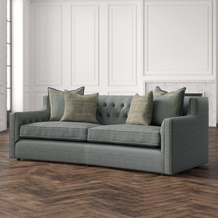 "Candace Curved 96"" Square Arms Sofa in 2020 