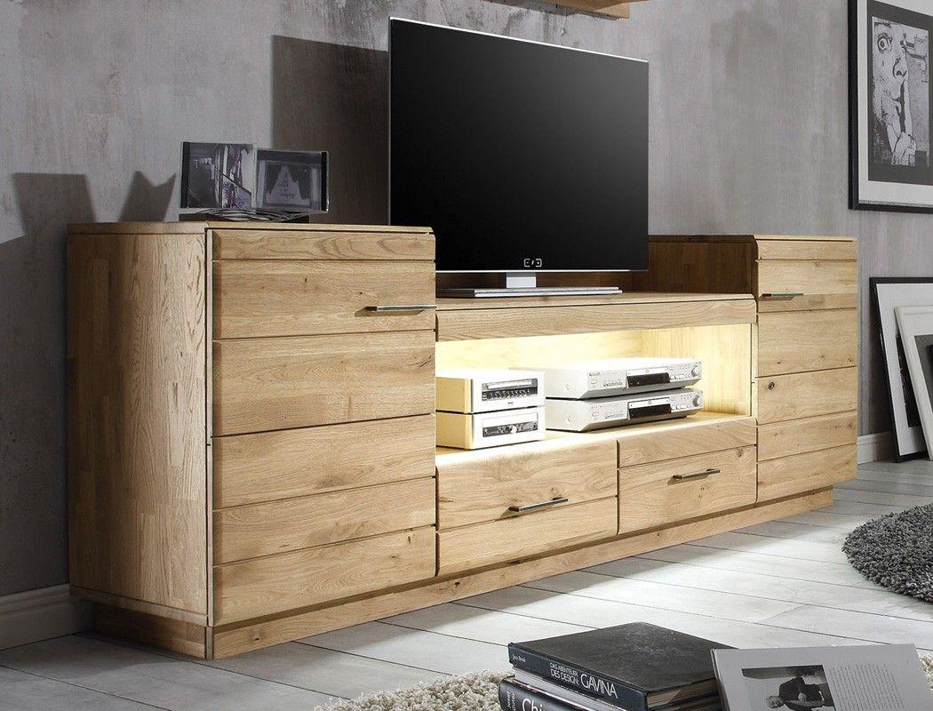 tv bank eiche tv lowboard granby cm massivholz holz eiche. Black Bedroom Furniture Sets. Home Design Ideas