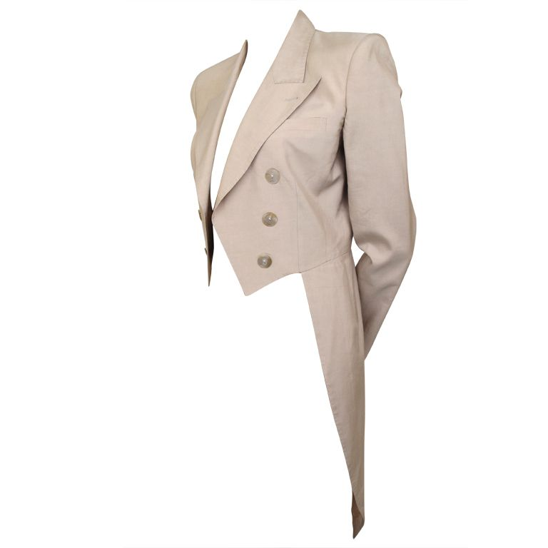 Something about the tailcoats jacket's design that can really flatter women's shape.