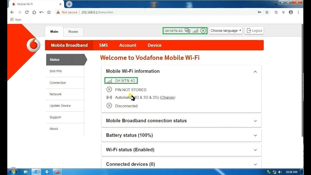 Unlock / Decode Vodafone R218h 4G MiFi   How to unlock mode