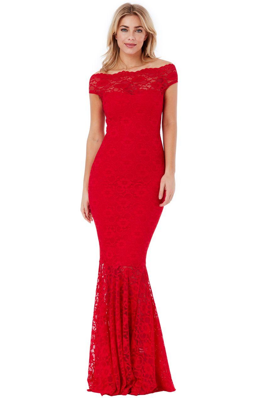 0f09bfe1bd3 Wholesale Bardot Lace Maxi Dress - City Goddess