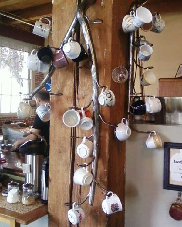 porte tasses porte mugs 17 id es originales copier pinterest porte tasse mugs et. Black Bedroom Furniture Sets. Home Design Ideas