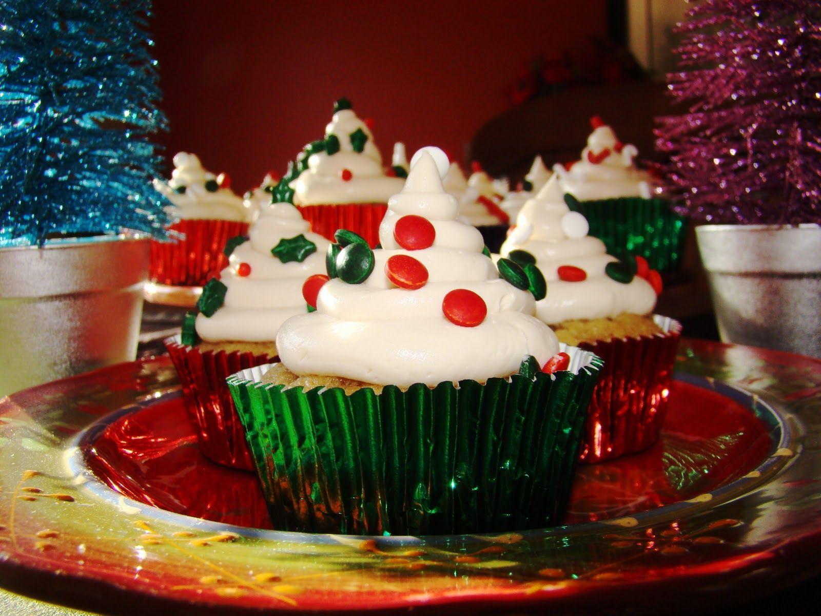 Applesauce cupcakes with salted caramel buttercream