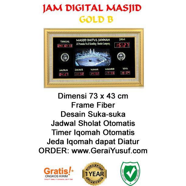 Jam Digital Masjid Jadwal Sholat Digital Otomatis Tipe Gold B