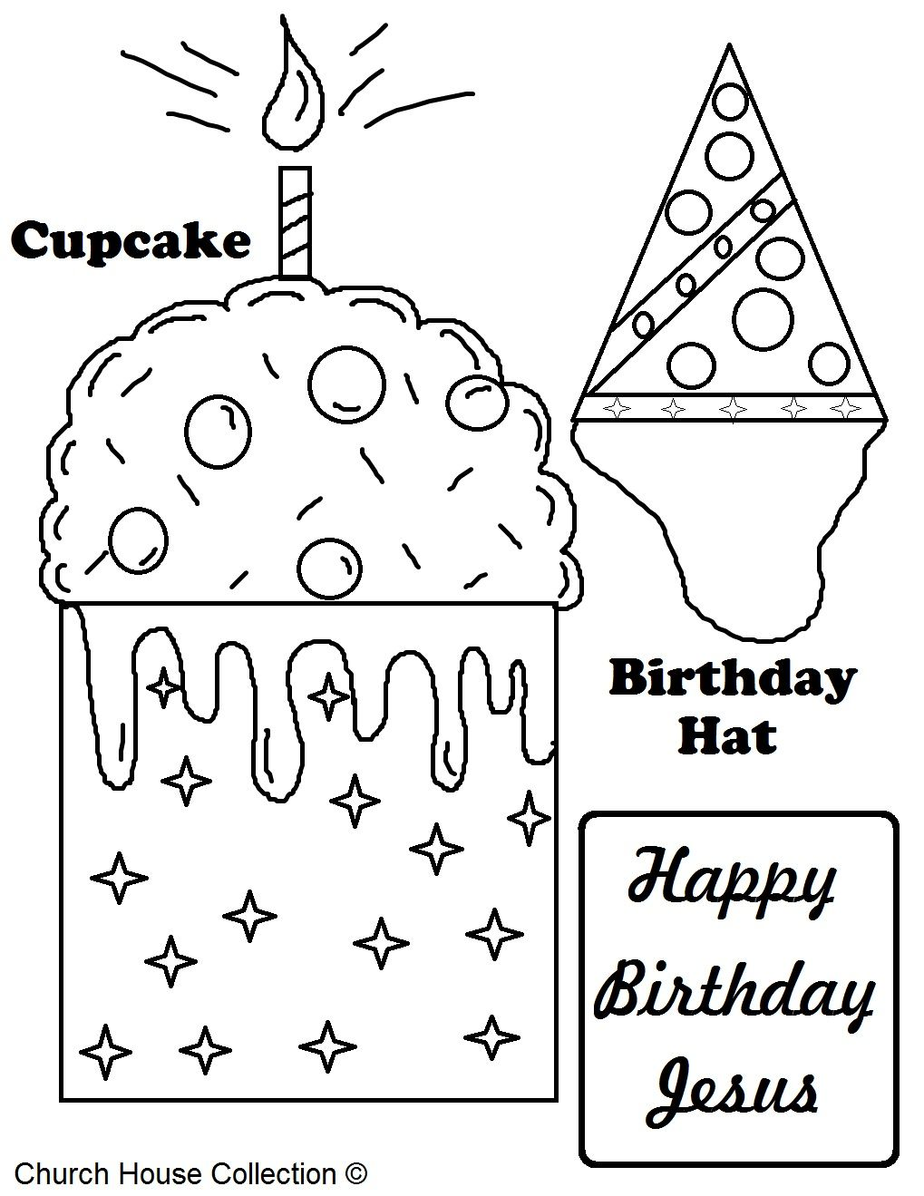 A Free Printable Happy Birthday Jesus Coloring Page For Kids In Sunday School Or Happy Birthday Coloring Pages Coloring Birthday Cards Happy Birthday Printable