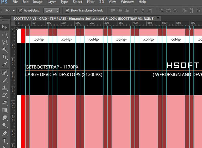 12 Column Bootstrap Grid Pattern