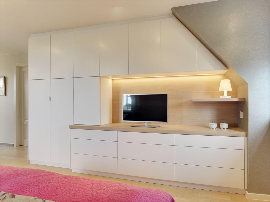 Landelijk moderne ingemaakte kast in slaapkamer ontworpen en ...