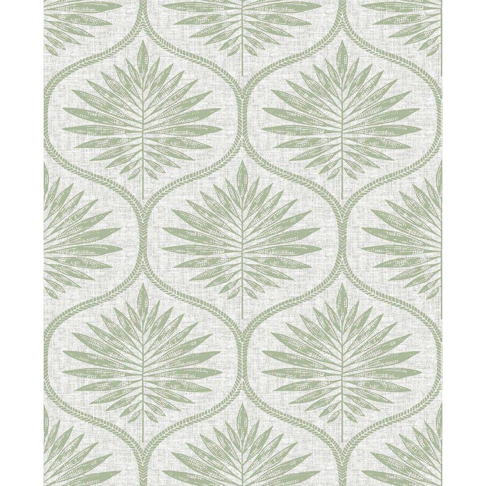 Nuwallpaper Primitive Leaves Peel Stick Wallpaper Green Peel And Stick Wallpaper Scandinavian Wallpaper Grey Wallpaper