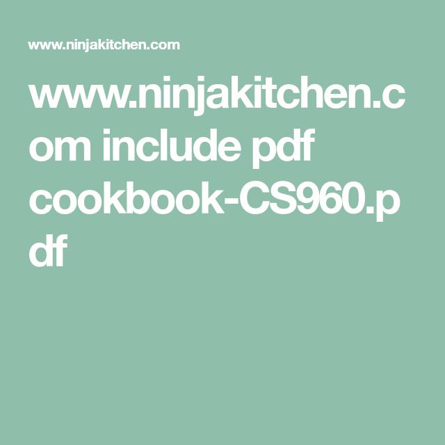 Wwwninjakitchencom Include Pdf CookbookCSpdf Ninja Auto IQ - Www ninja kitchen com