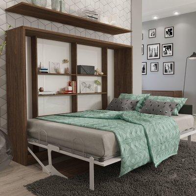 Brayden Studio Hansell Full Murphy Bed With Mattress Color