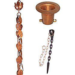 Monarch Rain Chains Cascading Leaves Rain Chain Bundle Rain Chain Pure Copper Chain