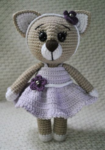 Lady cat amigurumi pattern | Muñecos de ganchillo, Crochet para ...