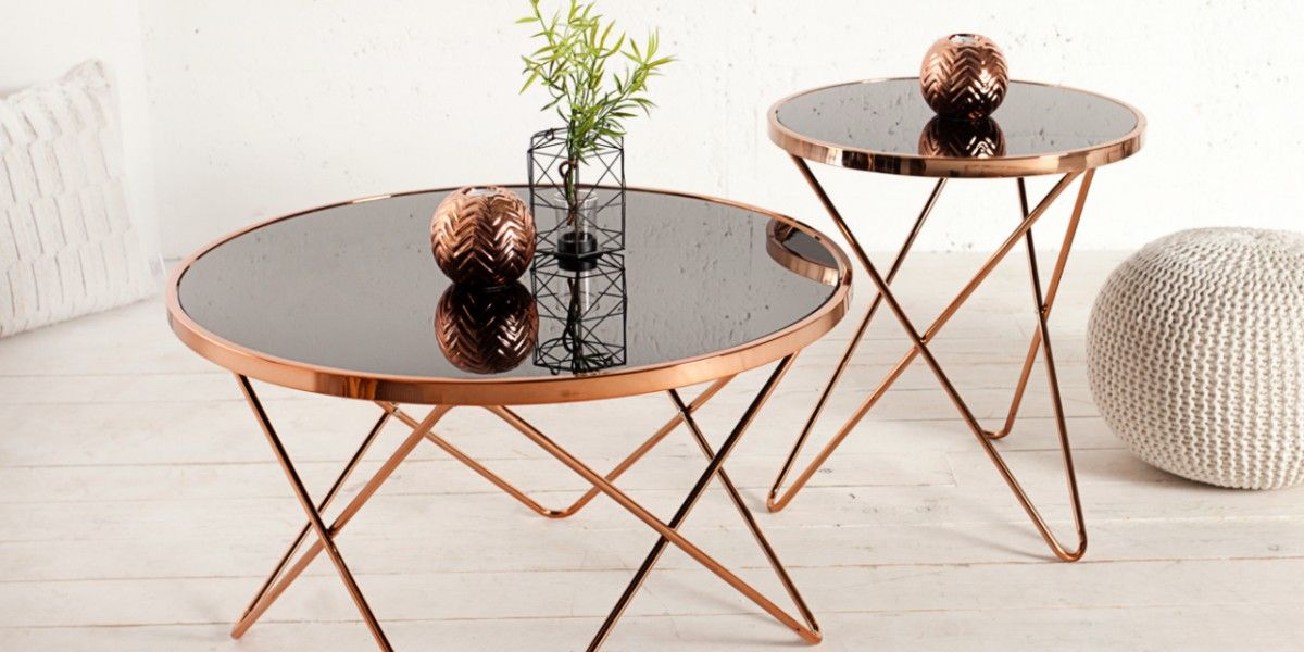 Wohnwelt Kupfer Design Beistelltisch Couchtisch Design Dekor