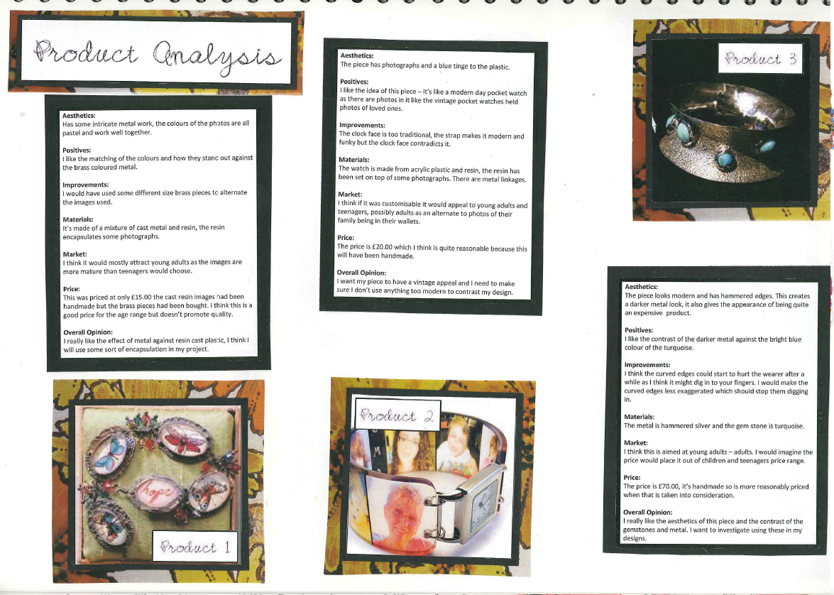 Gcse  Major Project  Jewellery Storage  Product Analysis