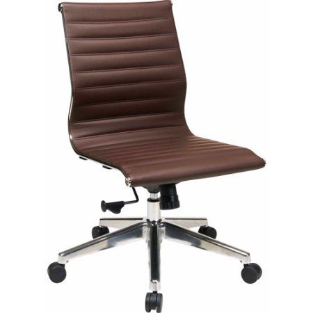 Awe Inspiring Armless Mid Back Eco Leather Office Chair Products Chair Creativecarmelina Interior Chair Design Creativecarmelinacom