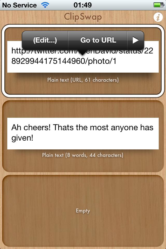 Clipswap Review Words, Index, Texts