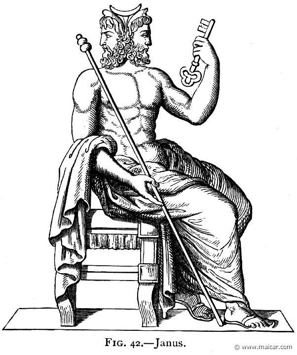 Janus Sceptre And Key Roman Gods Mythology Lucky Symbols