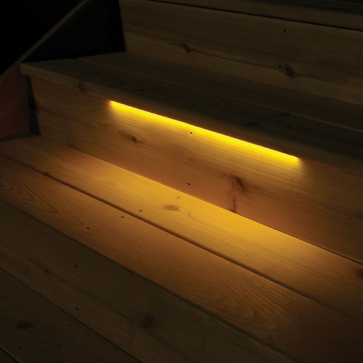 Stair Tread Lighting. Deck Lighting | Odyssey LED Strip Light By Aurora    DecksDirect.