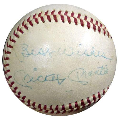 1a79466da8a Mickey Mantle Autographed AL Cronin Baseball New York Yankees