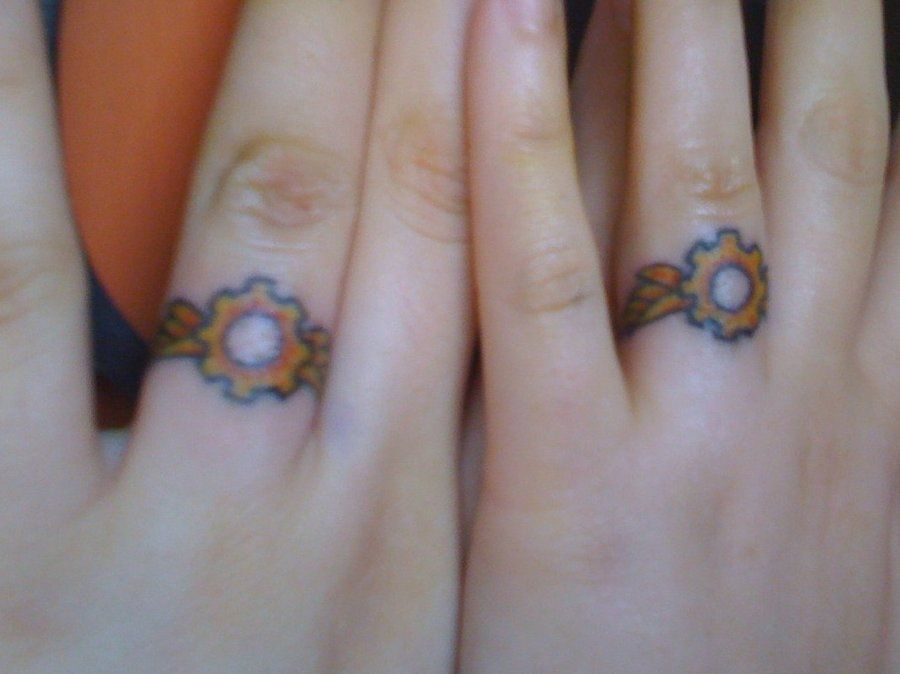 steampunk wedding rings tattoos - Steampunk Wedding Rings