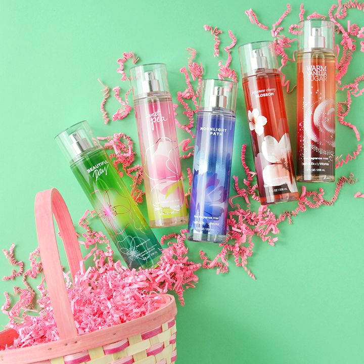 The perfect Easter basket begins with a kiss of Fine Fragrance Mist!