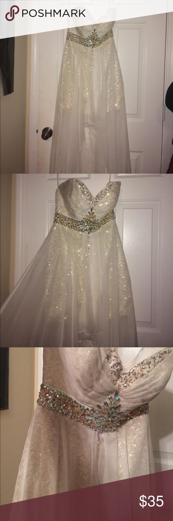 White glitter prom dress pinterest glitter prom dresses white